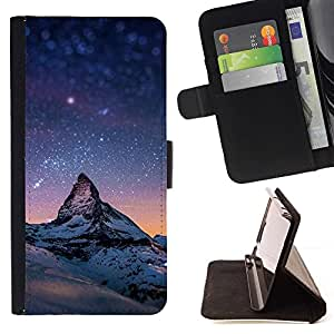 Momo Phone Case / Flip Funda de Cuero Case Cover - Estrellada Montaña Monte Everest;;;;;;;; - Sony Xperia Z5 5.2 Inch (Not for Z5 Premium 5.5 Inch)