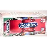 Scotties 2-Ply Premium Facial Tissue, Low Profile Box, 120 Count (Pack of 20)