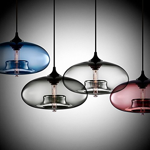 Modern Simple Hanging Glass Pendant Lighting for Kitchen Island Light Fixtures (Clear) by Newrays (Image #1)