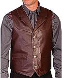 Scully Men's Lambskin Lapel Vest Big Brown XXX-Large
