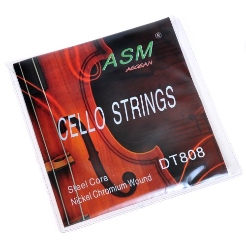 KMIS0 A2928 1 Set ASM Replacement Nickel Chromium Wound Steel Core Cello Strings DT808 Asm Replacement