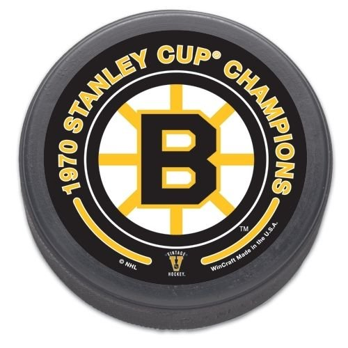 Boston Bruins 1970 Stanley Cup Champions Size and Weight Hockey Puck Bruins