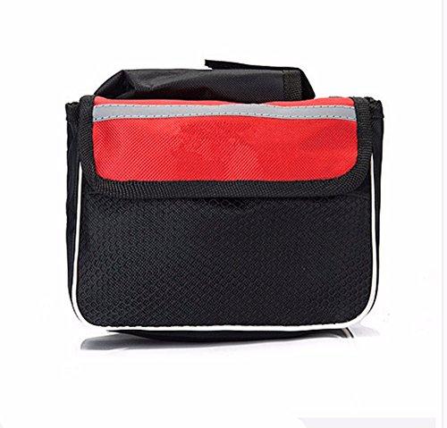 Fahrrad Mountainbike vorderen Trägers Reiten Sattel Tasche Zubehör, Rot