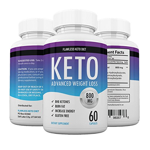 Flawless Keto Diet - Keto Advanced Weight Loss - Burn Fat Instead of Carbs - Ketosis Supplement - 30 Day Supply