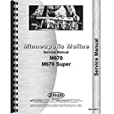 New Service Manual Made for Minneapolis Moline Tractor Model Super M670