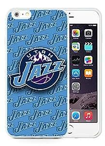 New Custom Design Cover Case For iPhone 6 Plus 5.5 Inch Utah Jazz White Phone Case