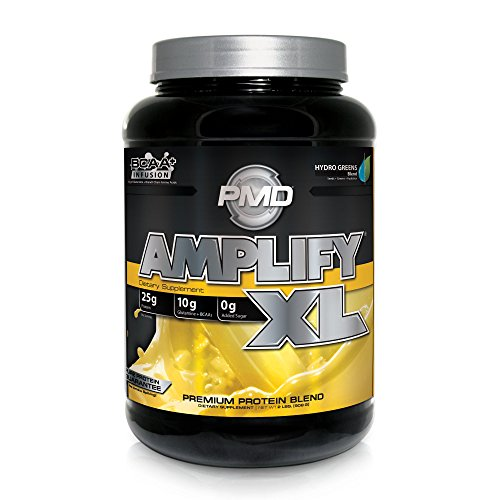 PMD Sports Amplify XL Superior Protein Supplement - Glutamine and Whey Protein Matrix with Superfood for Muscle, Strength and Recovery - Mango Mania - 24 Servings