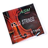 KMIS0 A2928 1 Set ASM Replacement Nickel Chromium Wound Steel Core Cello Strings DT808