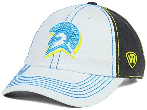 San Jose State Spartans Top of the World NCAA Women's Palette Adjustable Charcoal/White Hat - San Hat Jose State