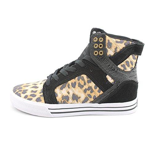 Supra Sneakers a Collo Alto da Uomo Multicolore(marrón - Cheetah/Black-white) Comprar Barato De Italia uVuQv4Tup