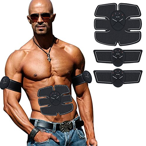 hayootech Muscle Toner, Abdominal Toning Belt, EMS ABS Trainer Wireless Body Gym Workout Home Office Fitness Equipment for Abdomen/Arm/Leg Training Men & Women