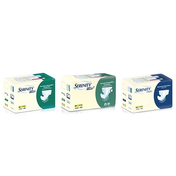 Serenity pañal para incontinencia tamaño Extra talla Mediana - 30 piezas: Amazon.es: Salud y cuidado personal