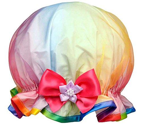 Dilly Daydream Rainbow High Organza Luxury Shower Cap 138
