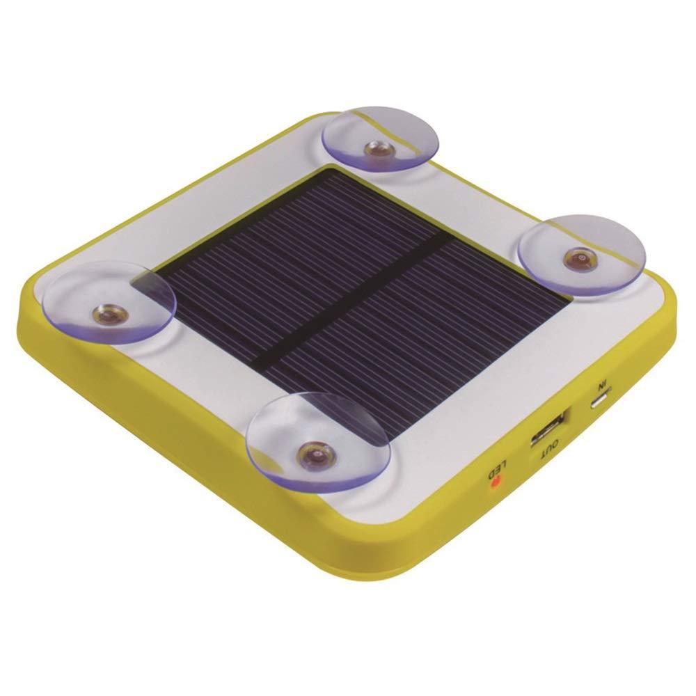 YLYP Cargador Solar de ventosas, 50W USB portátil 2600 mAh ...