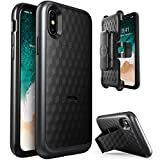 Save on iPhone X Case, i-Blason Transformer [Kickstand] Apple iPhone X 2017 Release [Heavy Duty] [Dual Layer] Combo Holster Cover case with [Locking Belt Swivel Clip] and more
