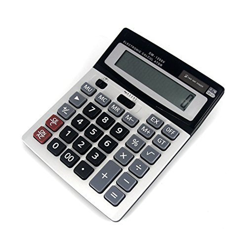 S&M TREADE-Brand New Boxed Desk Calculator Jumbo Large Buttons Solar Desktop Battery Dual
