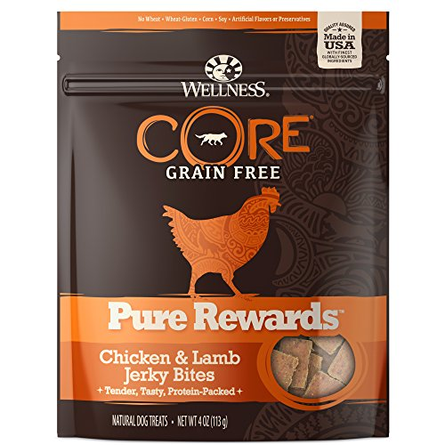 Wellness Core® Pure Rewards Natural Grain Free Dog Treats, Soft Chicken & Lamb Jerky Bites, 4-Ounce Bag