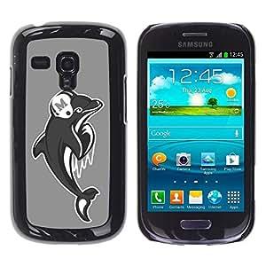 Be Good Phone Accessory // Dura Cáscara cubierta Protectora Caso Carcasa Funda de Protección para Samsung Galaxy S3 MINI NOT REGULAR! I8190 I8190N // Miami Dolphin Football