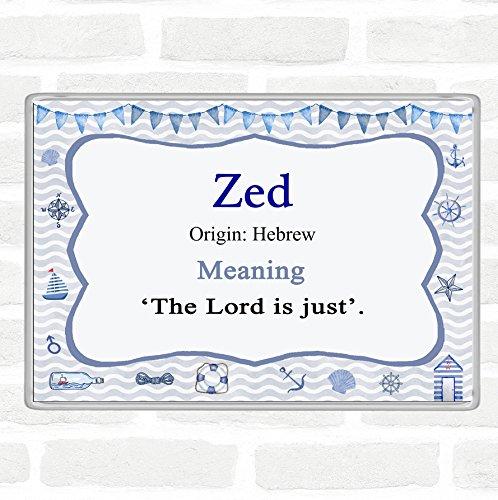 Imán para nevera con nombre Zed y significado Jumbo Náutico ...