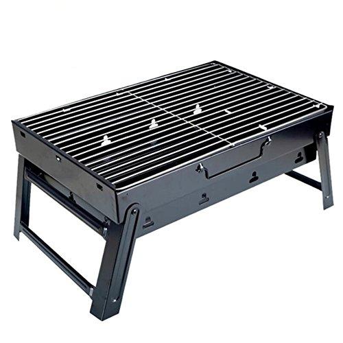 Portátil Barbacoa de carbón Plegable Grill, BBQ ZZ-aini Sobremesa Camping Picnic Barbecue-A 35x27x20cm