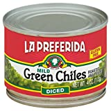 La Preferida Diced Green Chiles, Mild, 4-Ounce Cans (Pack of 24)