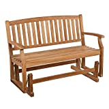 SEI Gideon Teak Patio Glider Bench For Sale