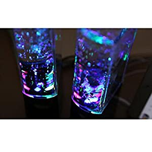 Aolyty H2OSpeakers_Black16 Colorful Led Dancing Water Fountain Light Show Sound Speaker For iPhone iPad Laptops Smartphone, Black