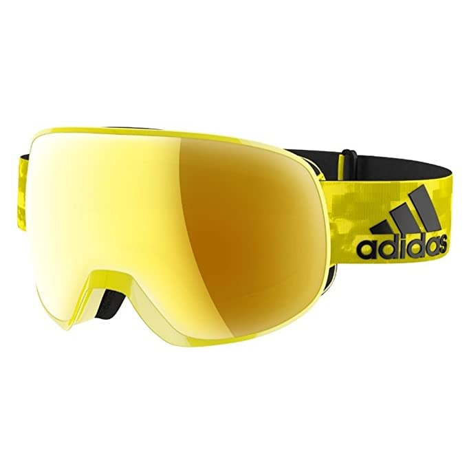 eb856d7b9 Adidas Goggles ad82 6052 Bright Shiny Yellow Gold Mirro Progressor S Visor  Gogg: Adidas Goggles: Amazon.ca: Clothing & Accessories