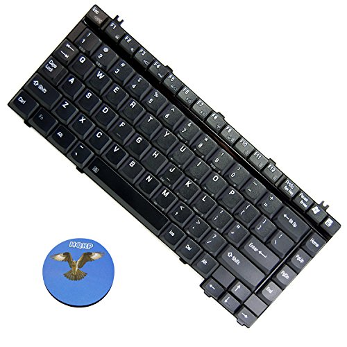 (HQRP Replacement Laptop/Notebook Keyboard for Toshiba Satellite M115-S3094 / M115-S3104 / M10 / M15 / M30 / M35 / M40 / M45 / M50 / M55 / M70 / M75 Series plus HQRP Coaster)