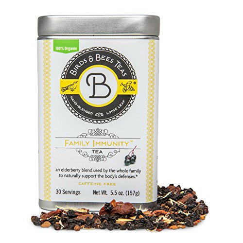Elderberry - Family Immunity Tea - Birds & Bees Teas - Promotes Wellness and Stronger Immune System with Organic Herbs! Makes A Delicious Elderberry Syrup - Great for Families - (Immunity Syrup)