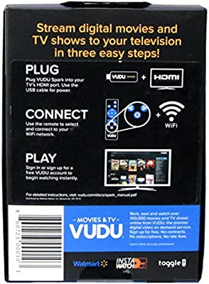 Vudu Spark (Vudu Streaming Stick) to Stream Vudu (Will Also Stream  Connected Ultraviolet and Disney Movie Anywhere Accounts)