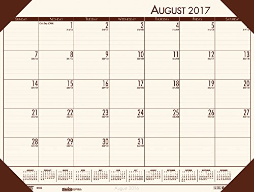 House of Doolittle 2017-2018 Academic Desk Pad Calendar, EcoTones, Cream, 18.5 x 13 Inches, August - July (HOD012541-18) by House of Doolittle