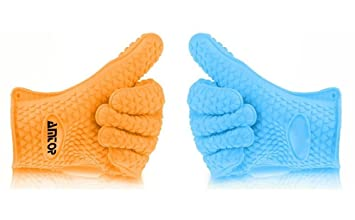 AMTOP Beste Hitzebeständige Silikon Backofen & Grill-Handschuhe ...