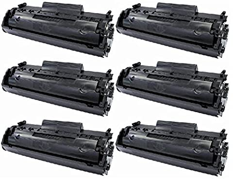 6 PACK Remanufactured HQ Black Toner Cartridge Compatible with CANON 104 CRG104 FX9 FX10 & HP Q2612A 12A- D420 D480 MF4150 MF4270 MF4350 MF4370 MF4690 L90. HP 1018 1020 M1120 3015 3020 3030 3050 3055