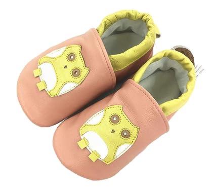 El bebé no puede dejar caer los zapatos Zapatos de cuero ...