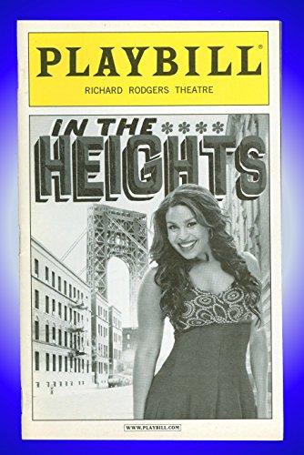 In the Heights, Broadway Playbill + Jordin Sparks, Marcy Harriell, Andréa Burns, Kyle Beltran, Clifton Oliver, Rick Negron, Priscilla Lopez, Olga Merediz, Shaun Taylor-Corbett