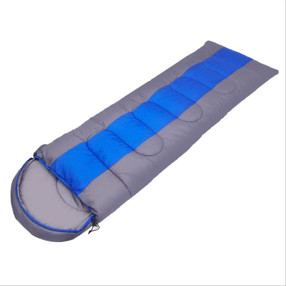 GGATT Sacco a Pelo Leggero Caldo 3 Stagioni Adatto per l'escursionismo in Campeggio con Una Borsa può Essere ampliato e Addensato,blu,2kg
