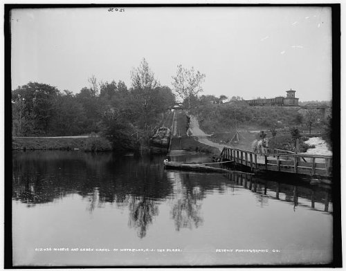 Infinite Photographs Photo: Morris,Essex Canal,Inclined Planes,Boats,Docks,Piers,Waterloo,New Jersey,NJ,1890