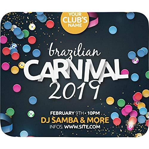 Unisex Man Realistic Brazilian Carnival Party Flyer Poster