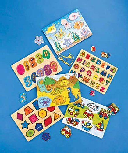 Deluxe Wooden Puzzle Pack with Wire Rack