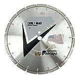 USA Made 14 Inch Diamond Concrete/Masonry Blade, Laser Welded Diamond Segments, 1