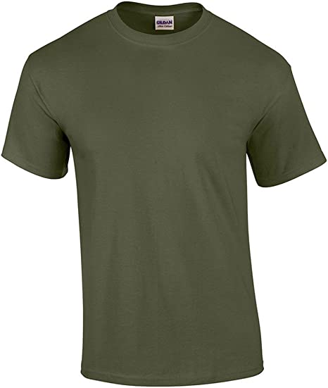 HTHR MILITRY GRN G500 T-Shirt Gildan Heavy Cotton 5.3 oz