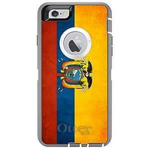 "CUSTOM Glacier OtterBox Defender Series Case for Apple iPhone 6 (4.7"" Model) - Ecuador Old Flag"