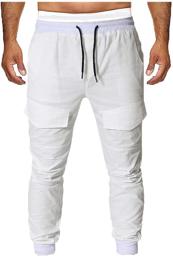 Hombres Pantalones De CháNdal Pantalones Casual EláSticos ...