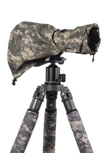 LensCoat Raincoat RS for Camera and Lens, Medium (Digital Camo) Camera Lens rain Sleeve Cover Camouflage Protection LCRSMDC