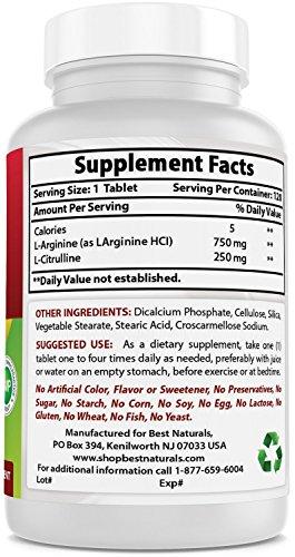 Best Naturals Arginine Citruline Complex 1000 mg 120 Tablets by Best Naturals (Image #5)