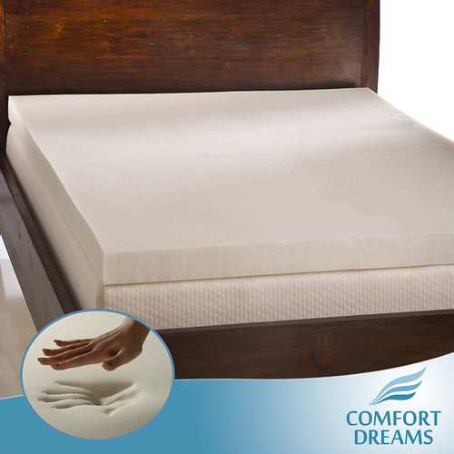 Comfort Dreams Ultra Soft 4-inch Memory Foam Mattress Topper. Mattress Pad. Queen Size. by Comfort Dreams