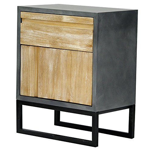 Heather Ann Creations The Nova Collection Modern Style Wooden Entry Way 1 Drawer 1 Door Living Room Accent Cabinet, Grey and White Wash 18th Century Toilet