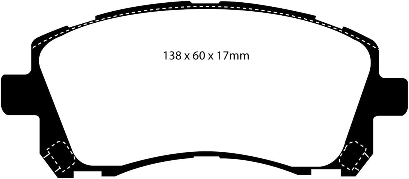 EBC Brakes DP31098C Redstuff Ceramic Low Dust Brake Pad