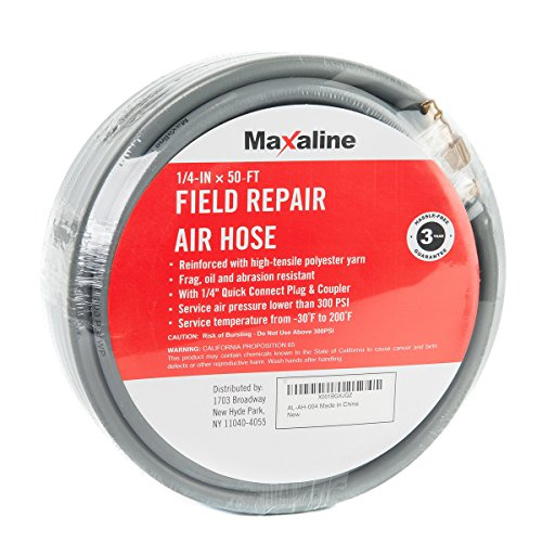 Maxaline Non-Kinking Rubber Air Hose Field Repairable 1/4